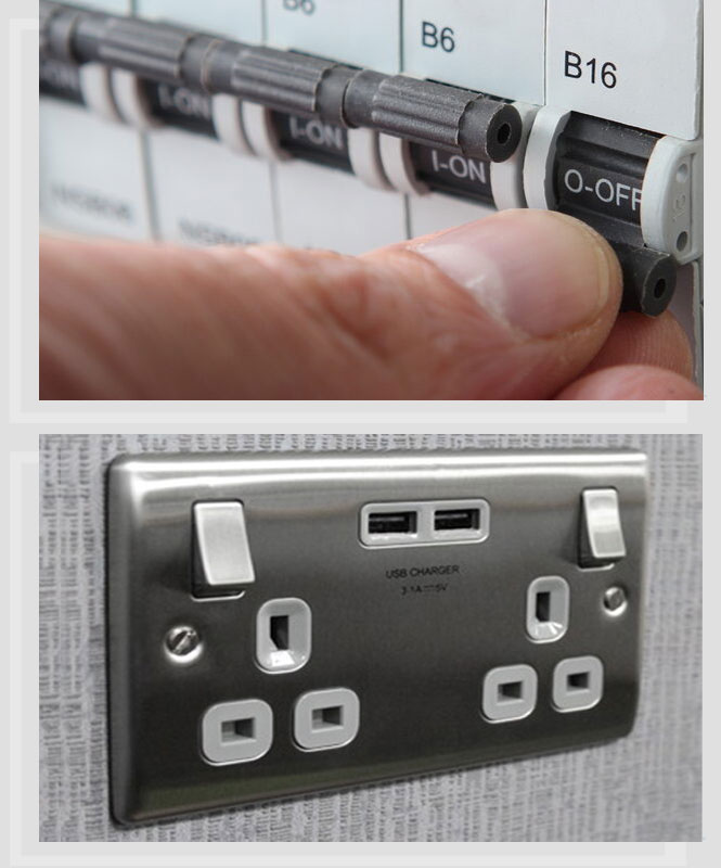 Domestic Electricians Consumer Board and Electrical Socket